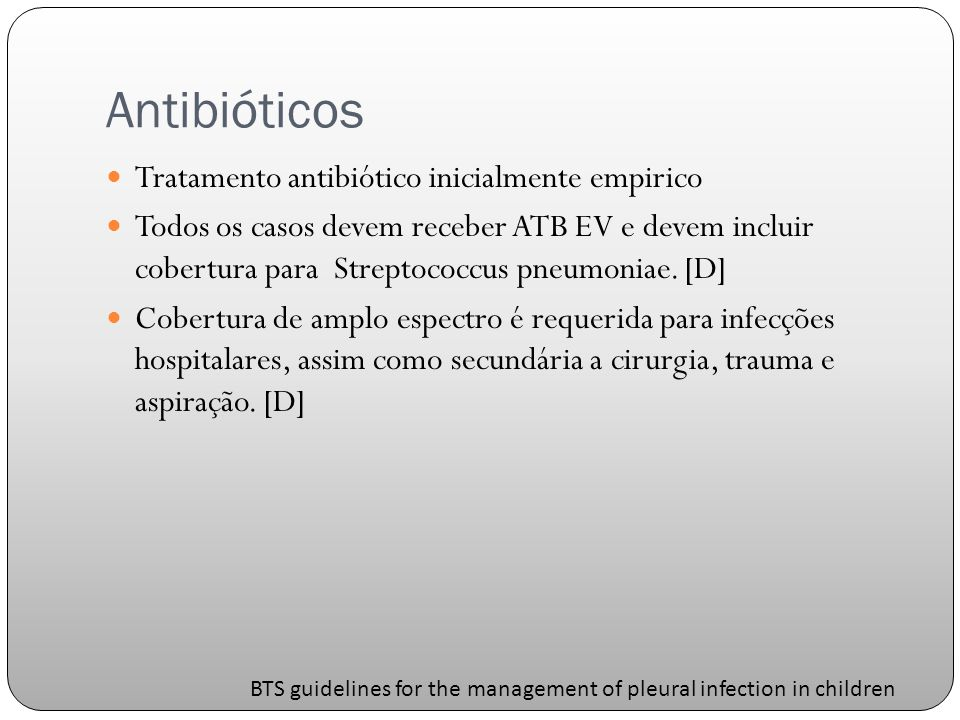 Antibióticos Tratamento antibiótico inicialmente empirico