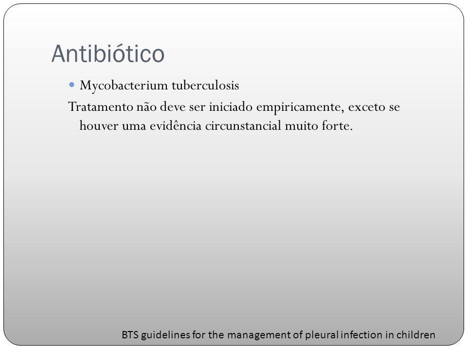 Antibiótico Mycobacterium tuberculosis