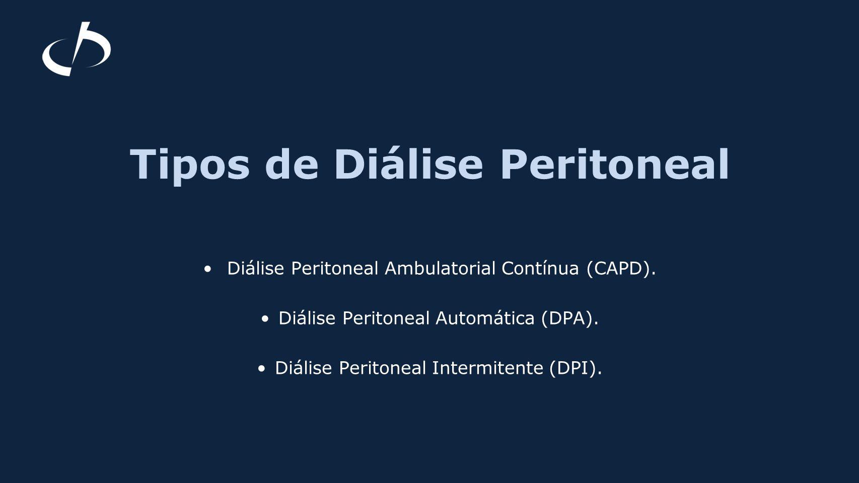 Tipos de Diálise Peritoneal