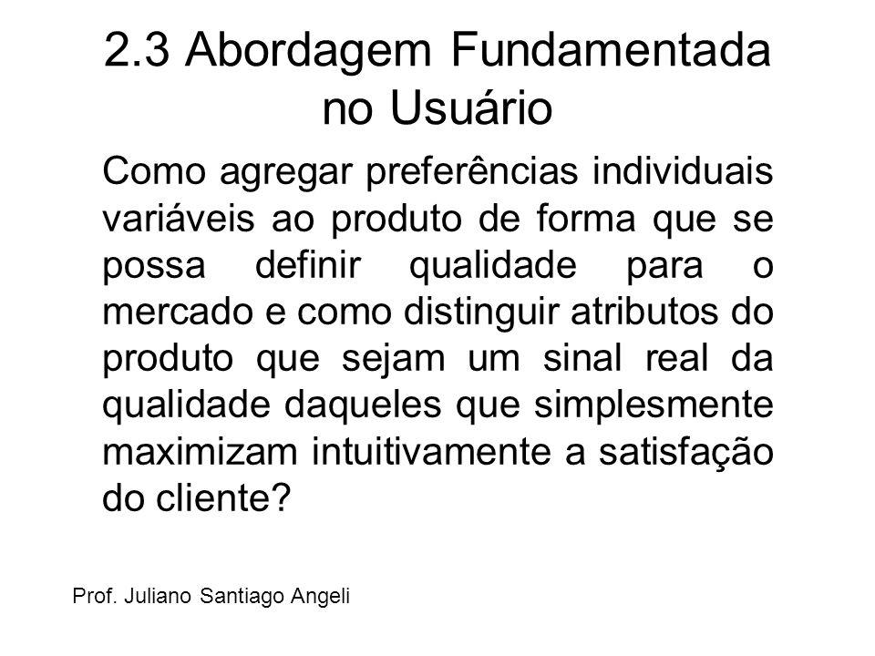 2.3 Abordagem Fundamentada no Usuário