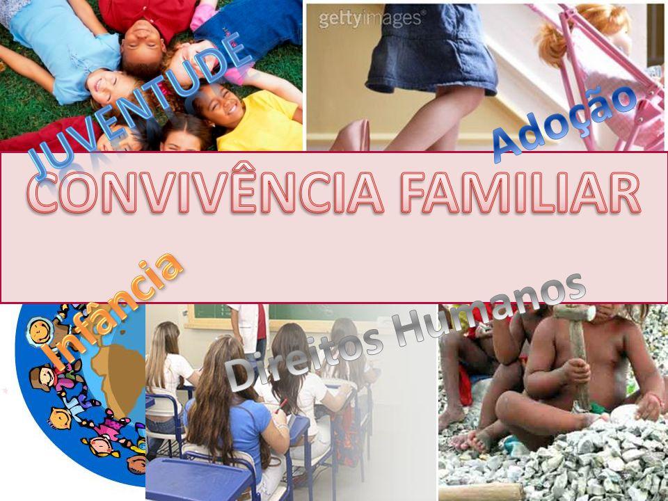 JUVENTUDE Adoção CONVIVÊNCIA FAMILIAR Infância Direitos Humanos
