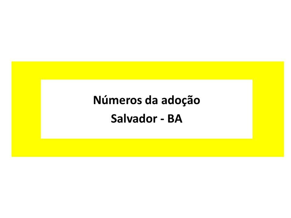 Números da adoção Salvador - BA