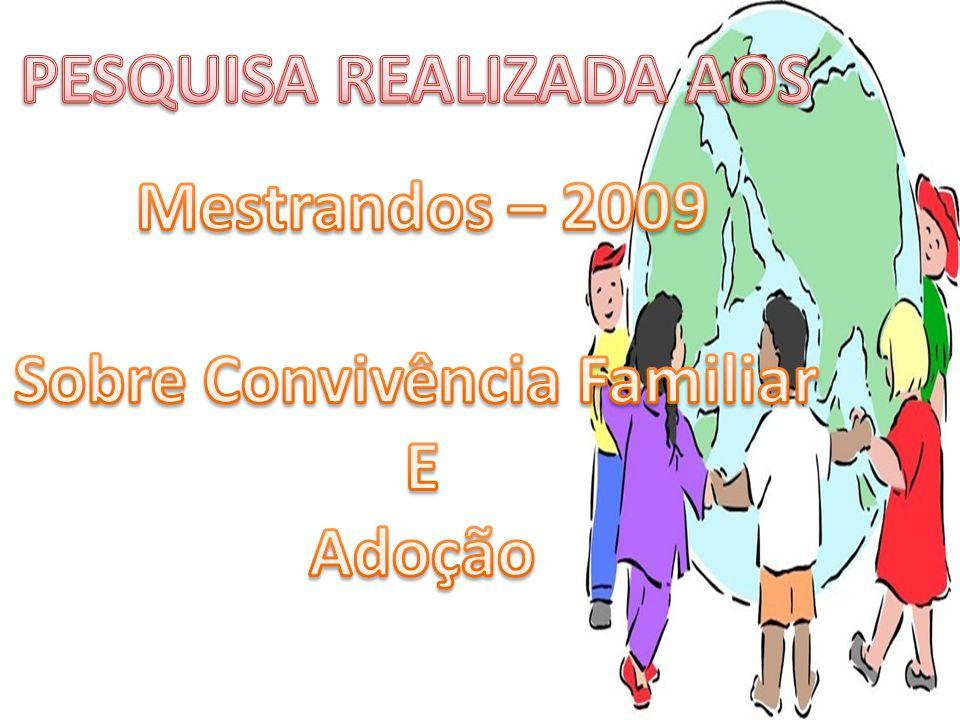 PESQUISA REALIZADA AOS Sobre Convivência Familiar