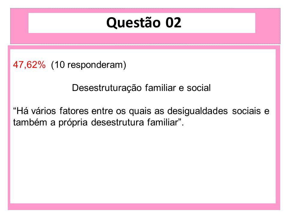 Desestruturação familiar e social