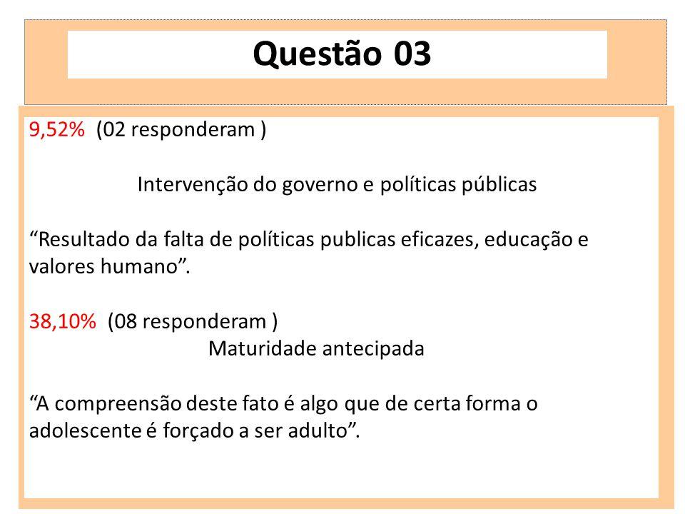Intervenção do governo e políticas públicas