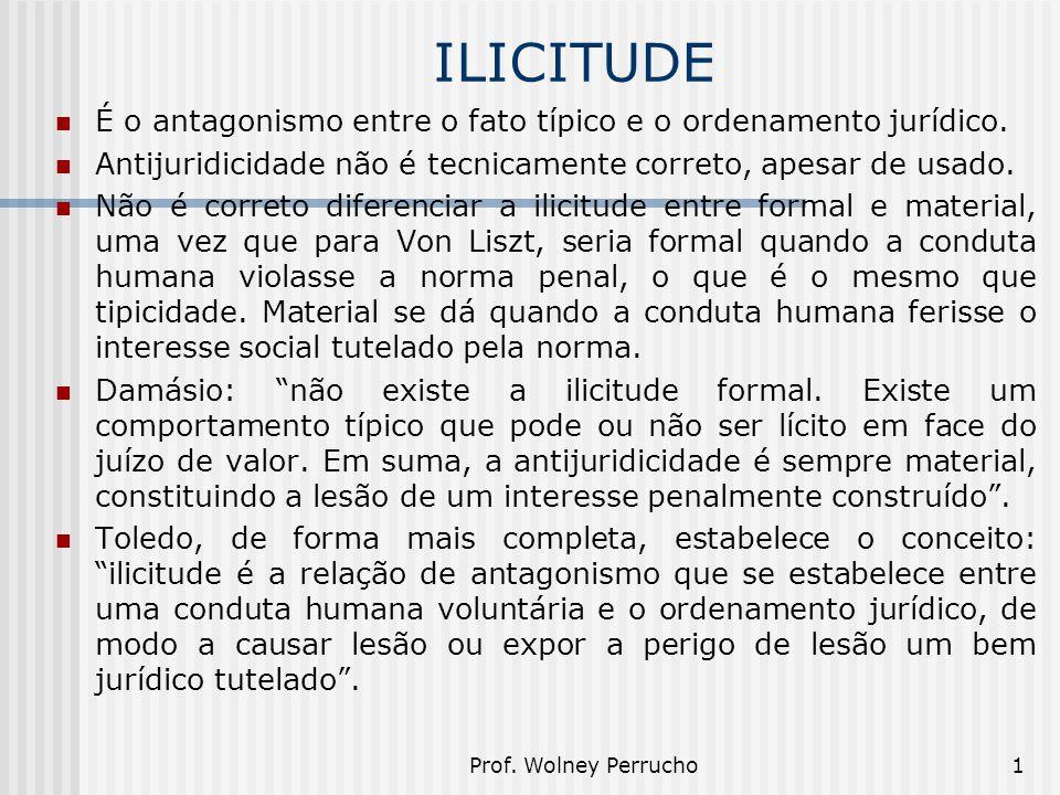ILICITUDE É o antagonismo entre o fato típico e o ordenamento jurídico. Antijuridicidade não é tecnicamente correto, apesar de usado.