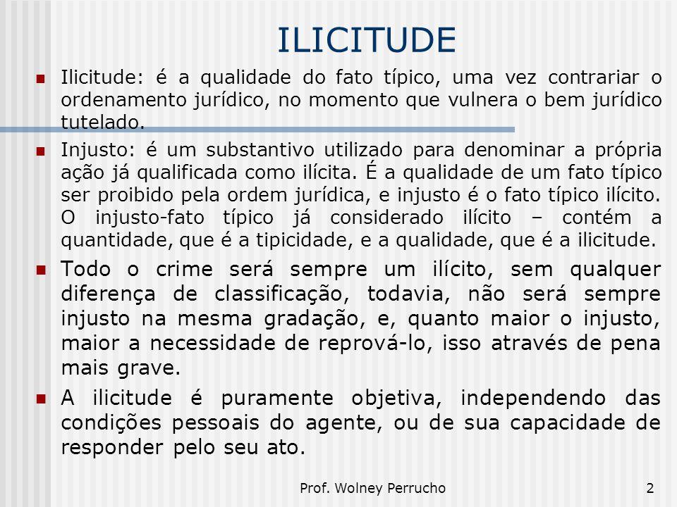 ILICITUDE Ilicitude: é a qualidade do fato típico, uma vez contrariar o ordenamento jurídico, no momento que vulnera o bem jurídico tutelado.