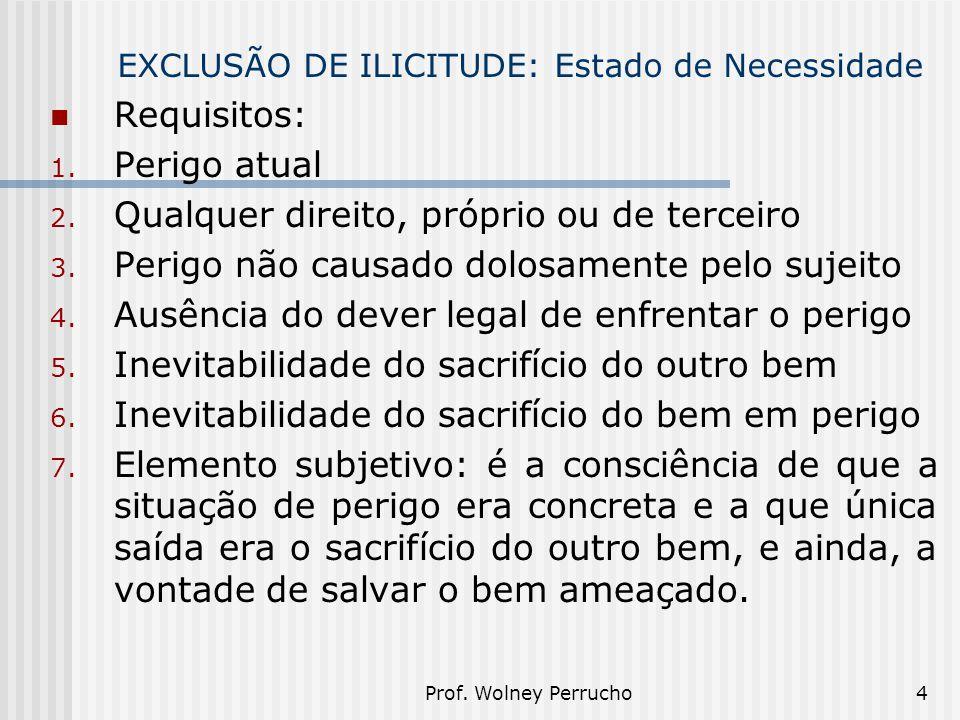 EXCLUSÃO DE ILICITUDE: Estado de Necessidade