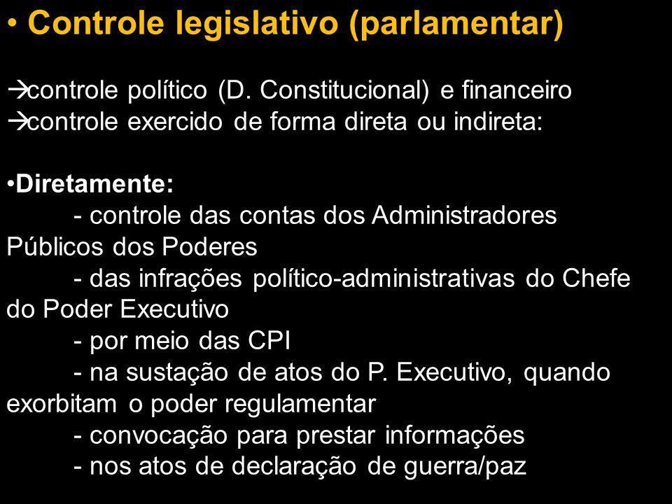 Controle legislativo (parlamentar)