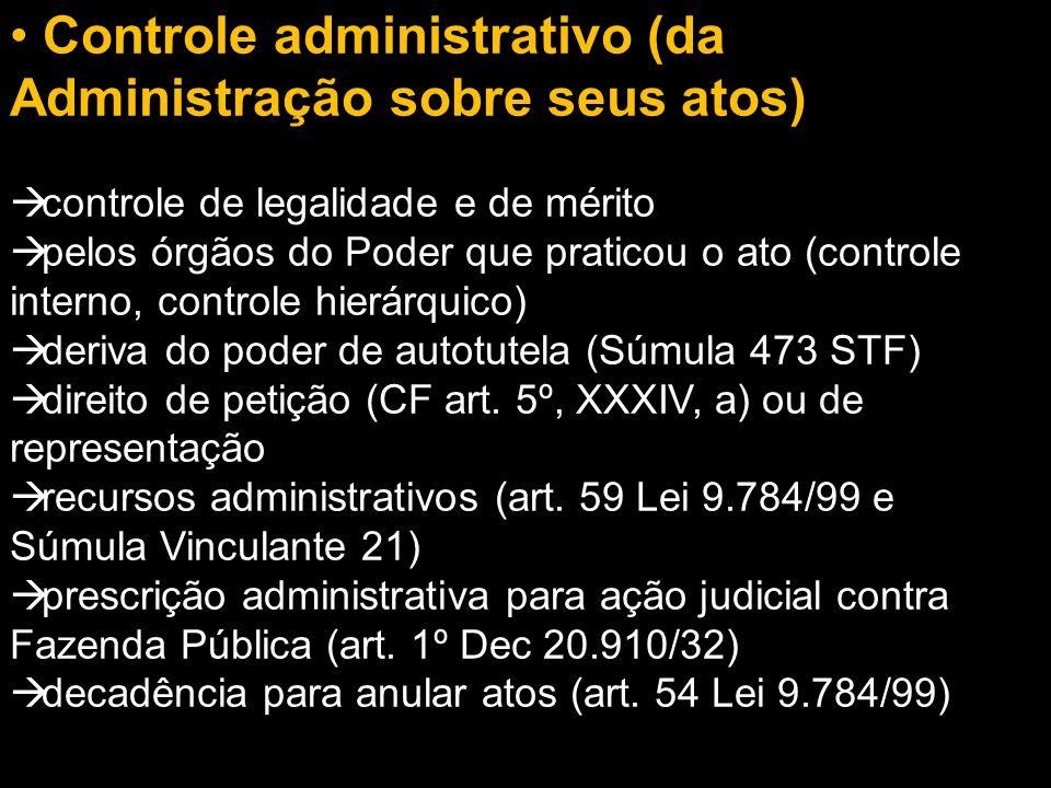 Controle administrativo (da Administração sobre seus atos)
