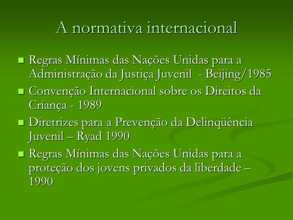 A normativa internacional