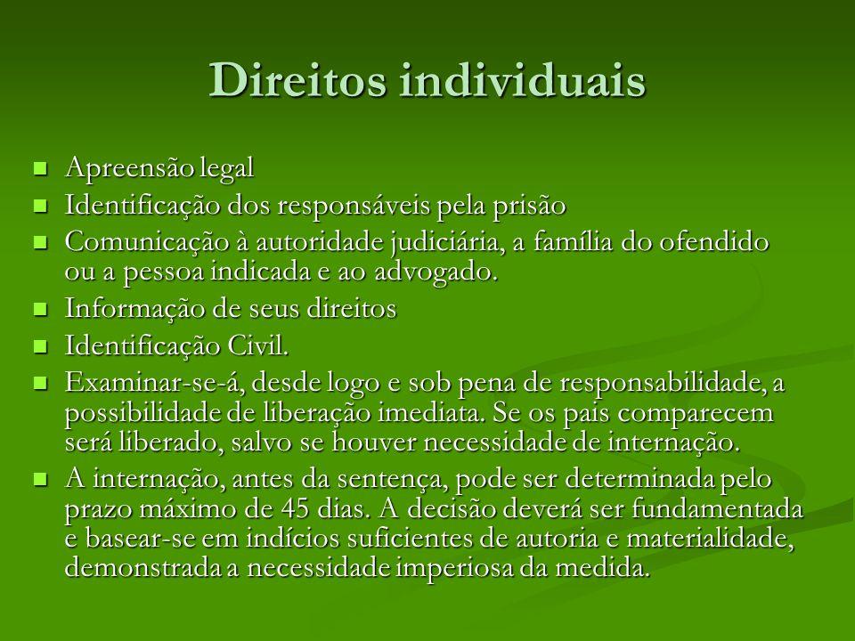 Direitos individuais Apreensão legal