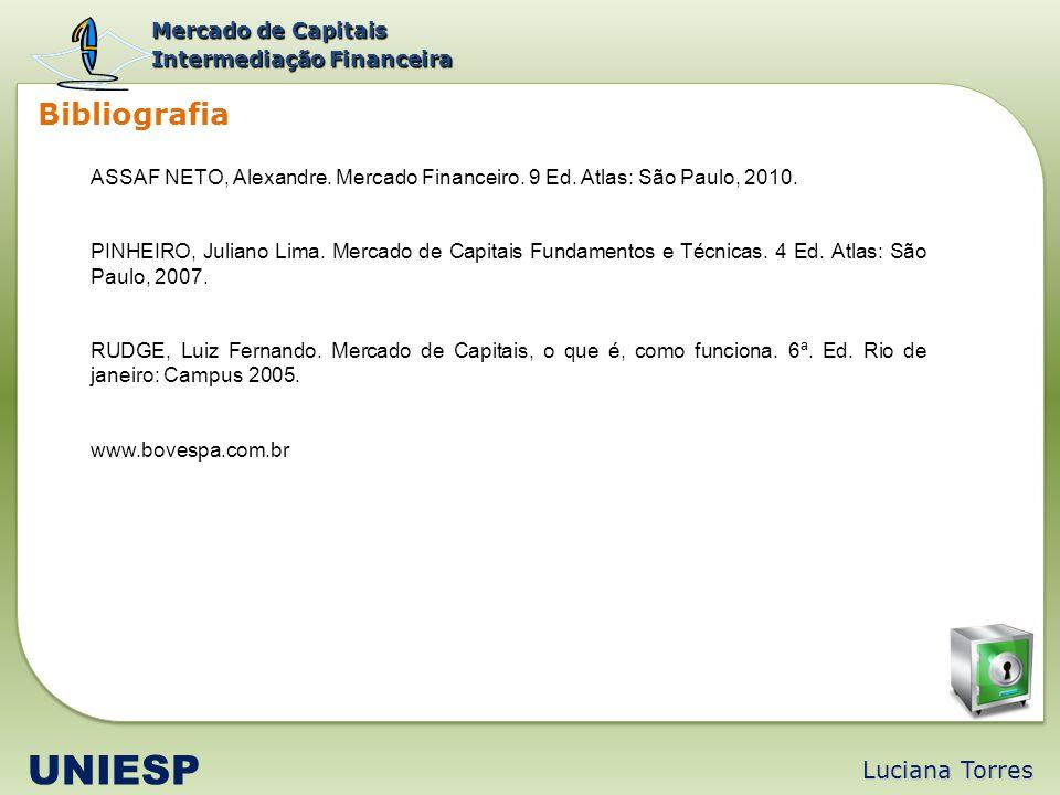 UNIESP Bibliografia Luciana Torres Mercado de Capitais