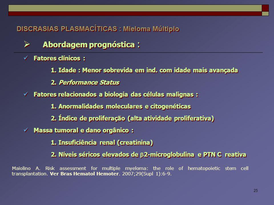 Abordagem prognóstica :