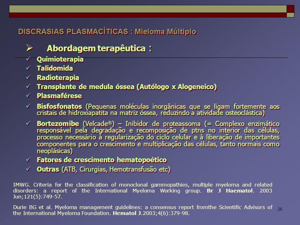 Abordagem terapêutica :