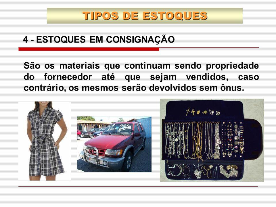 TIPOS DE ESTOQUES 4 - ESTOQUES EM CONSIGNAÇÃO