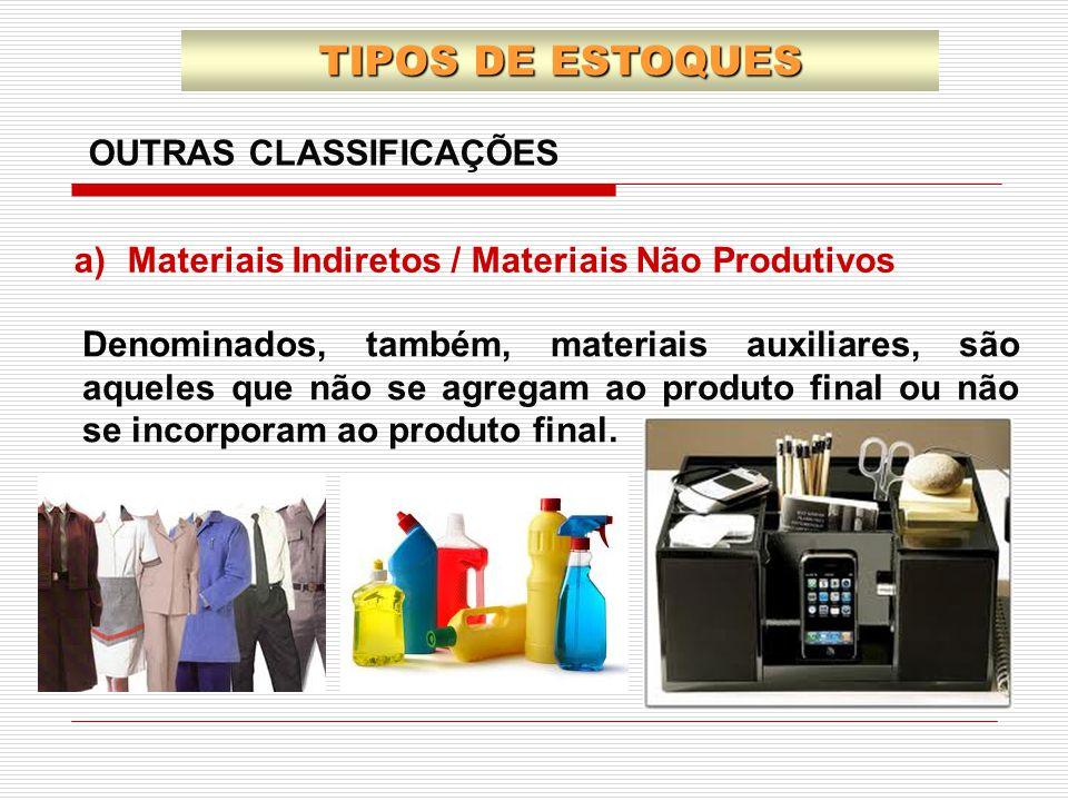 TIPOS DE ESTOQUES OUTRAS CLASSIFICAÇÕES