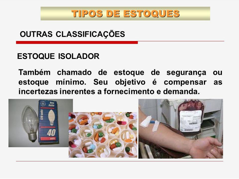 TIPOS DE ESTOQUES OUTRAS CLASSIFICAÇÕES ESTOQUE ISOLADOR
