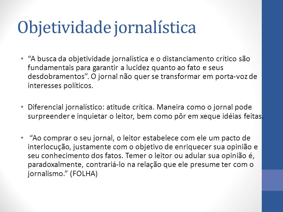 Objetividade jornalística