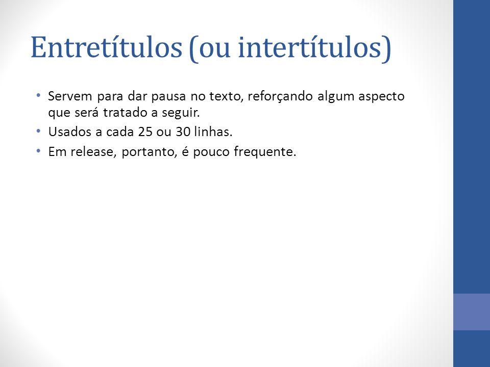 Entretítulos (ou intertítulos)