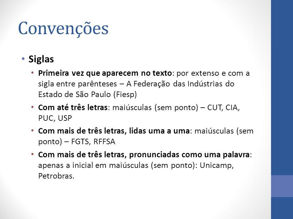 Convenções Siglas.