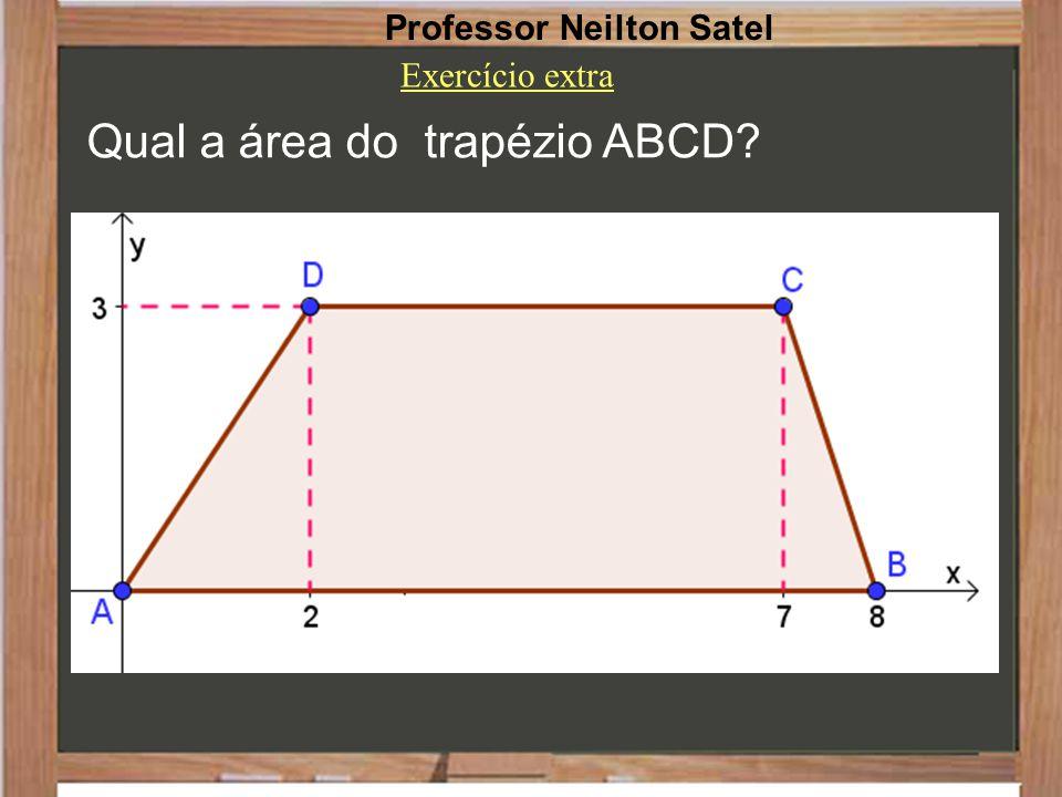 Qual a área do trapézio ABCD
