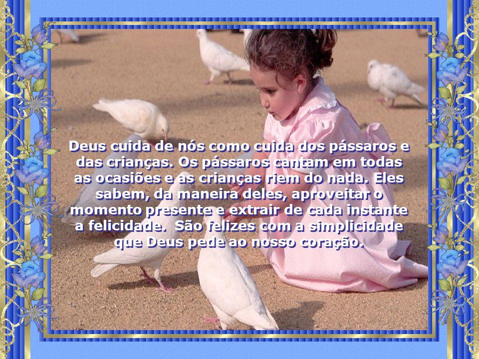 Deus cuida de nós como cuida dos pássaros e das crianças