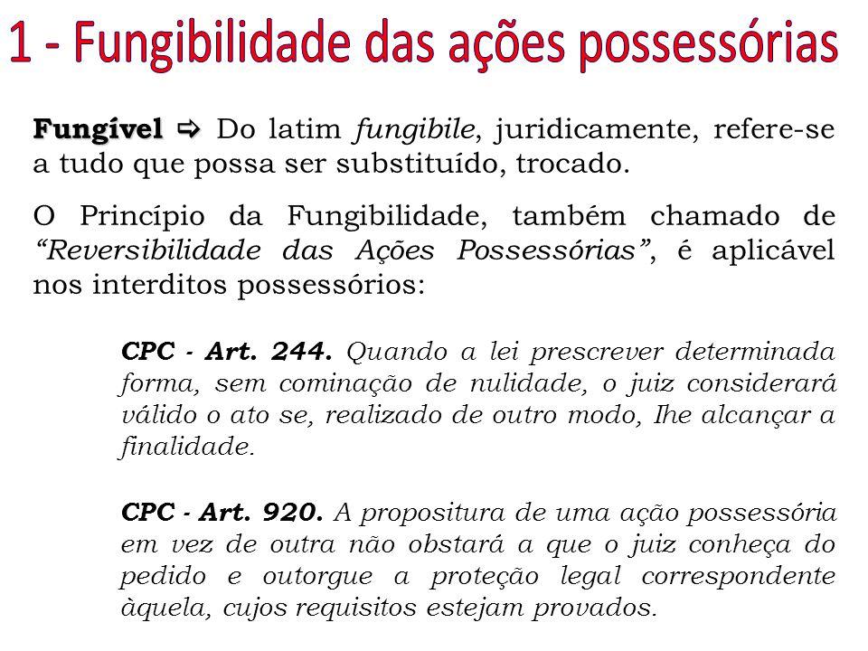 1 - Fungibilidade das ações possessórias