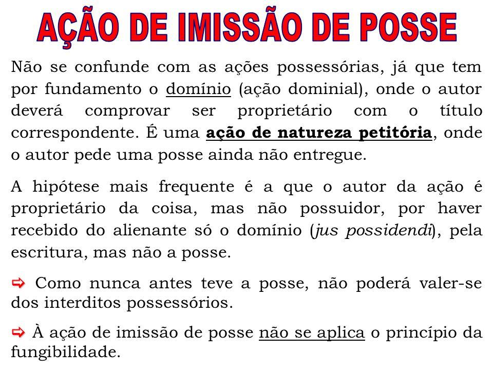 AÇÃO DE IMISSÃO DE POSSE