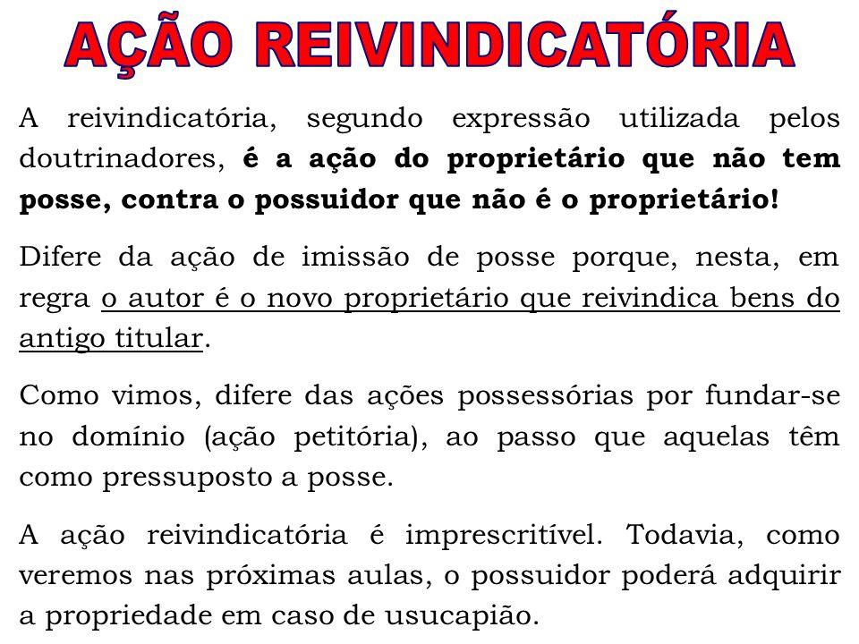 AÇÃO REIVINDICATÓRIA