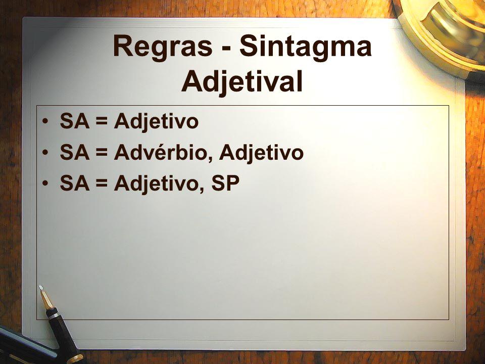 Regras - Sintagma Adjetival