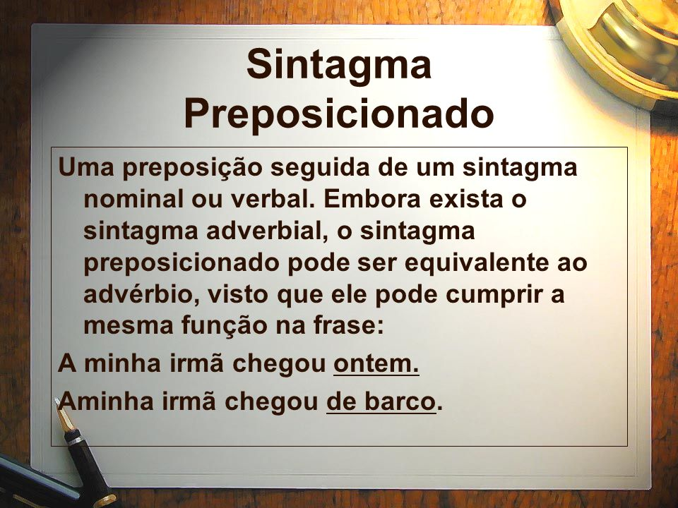 Sintagma Preposicionado