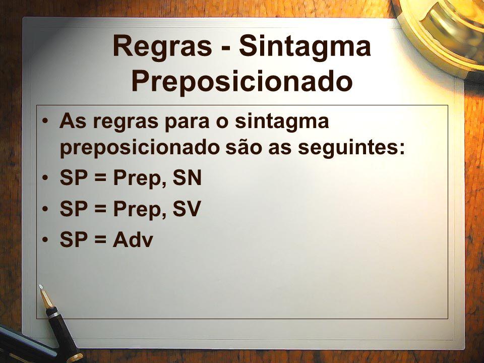 Regras - Sintagma Preposicionado