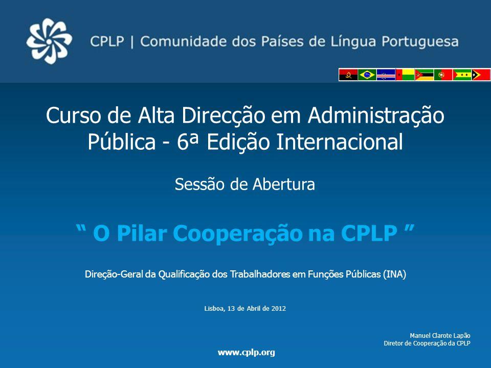 O Pilar Cooperação na CPLP