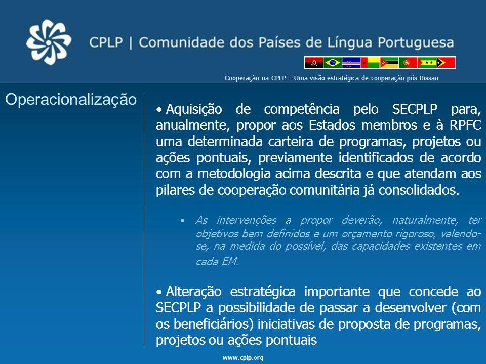 Cooperação na CPLP – Uma visão estratégica de cooperação pós-Bissau