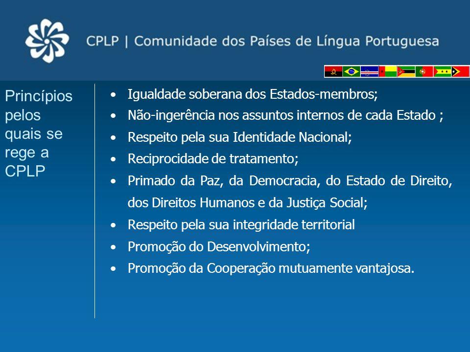 Princípios pelos quais se rege a CPLP