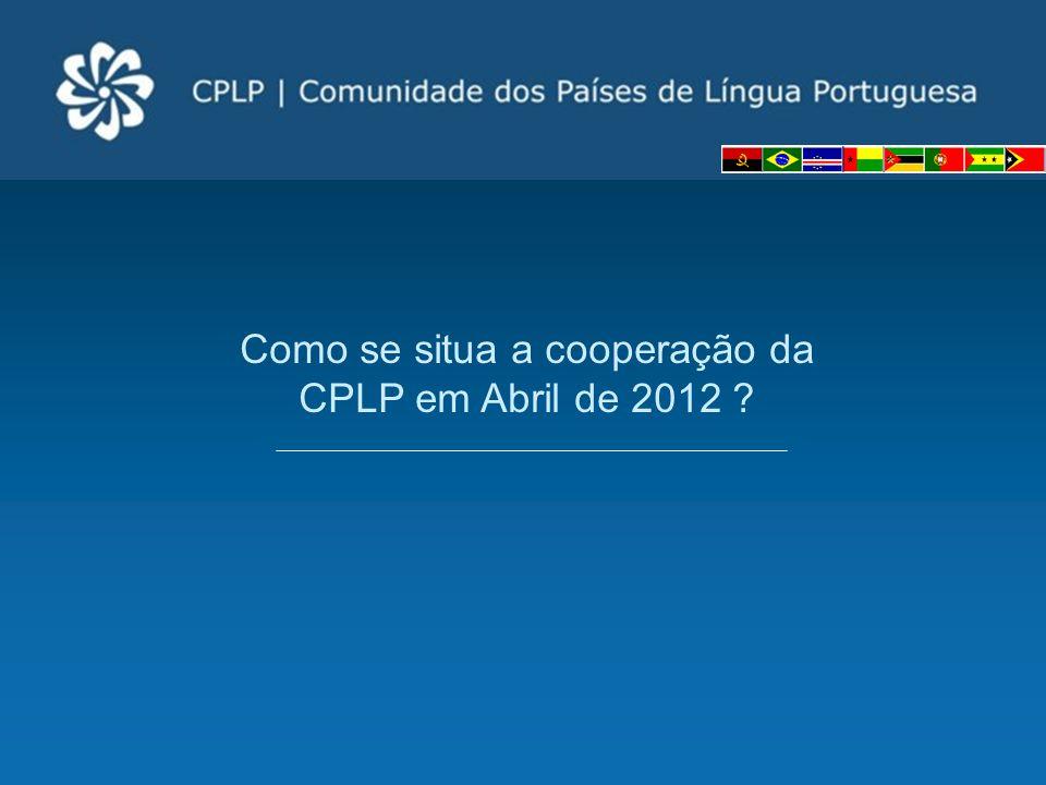 Como se situa a cooperação da CPLP em Abril de 2012