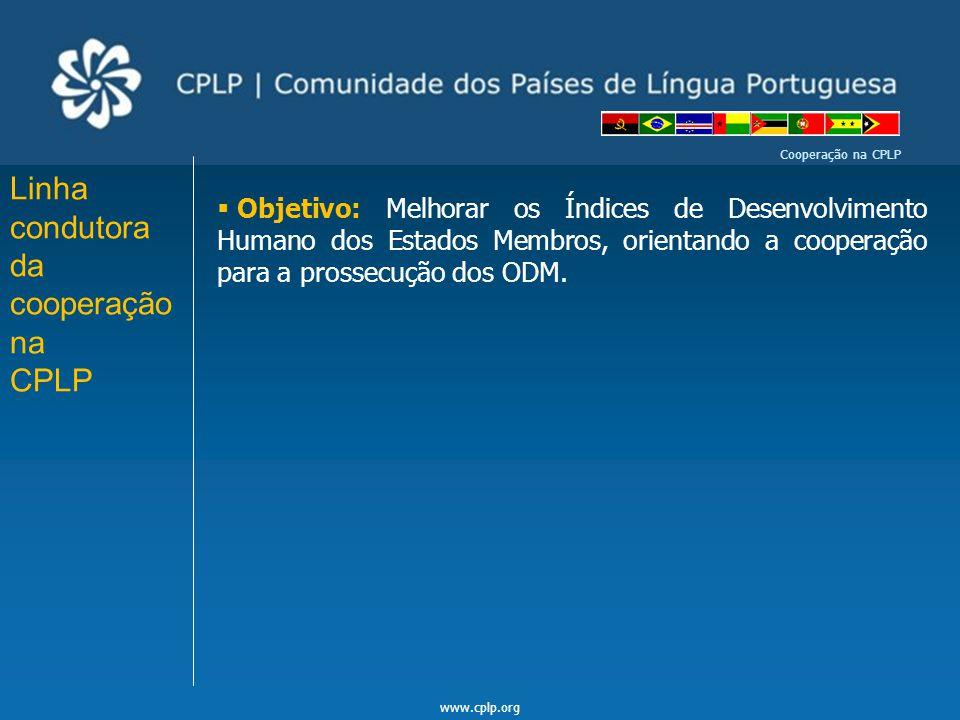 Linha condutora da cooperação na CPLP