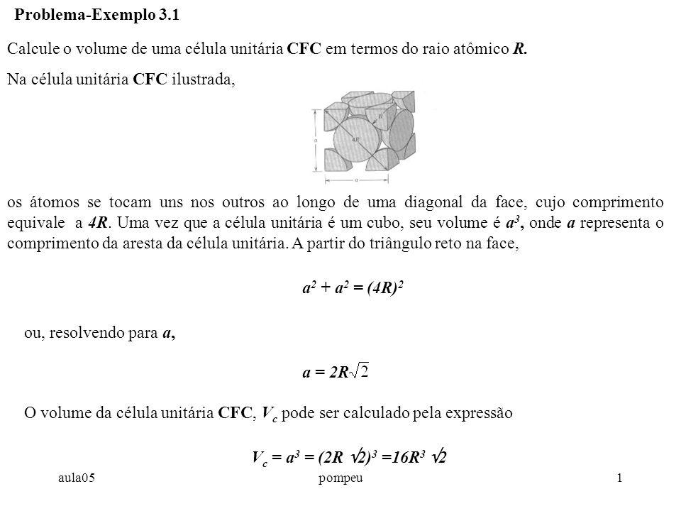 Na célula unitária CFC ilustrada,
