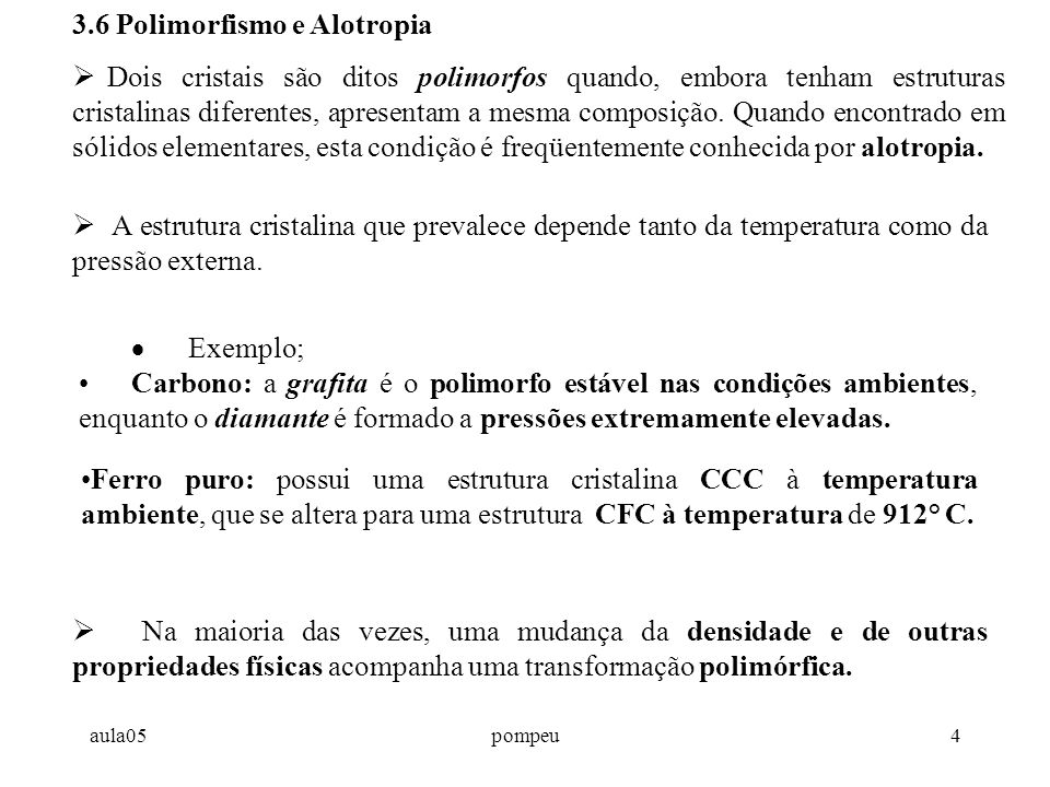 3.6 Polimorfismo e Alotropia