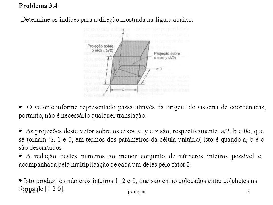 Determine os índices para a direção mostrada na figura abaixo.