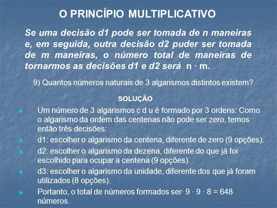 O PRINCÍPIO MULTIPLICATIVO