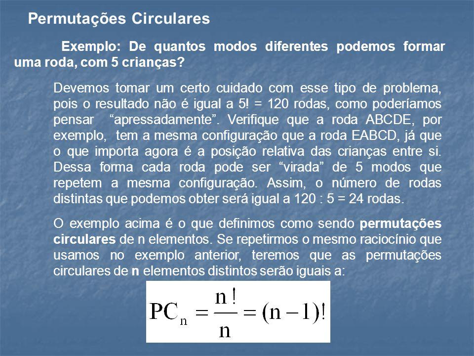 Permutações Circulares