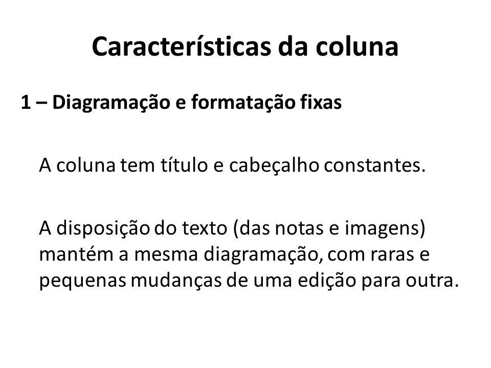 Características da coluna