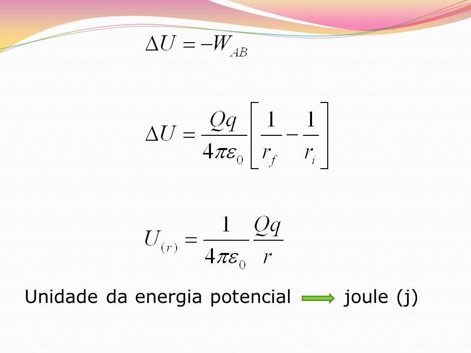Unidade da energia potencial joule (j)