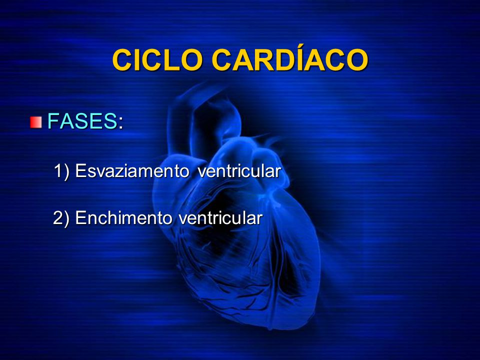 CICLO CARDÍACO FASES: 1) Esvaziamento ventricular