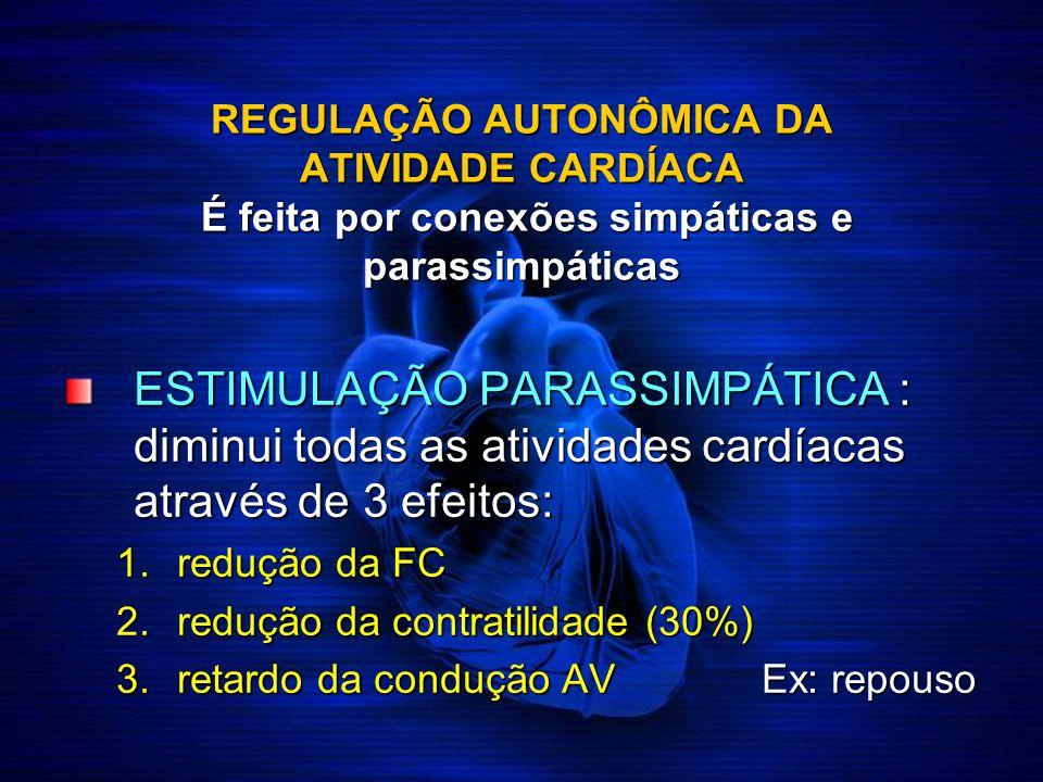 REGULAÇÃO AUTONÔMICA DA ATIVIDADE CARDÍACA É feita por conexões simpáticas e parassimpáticas