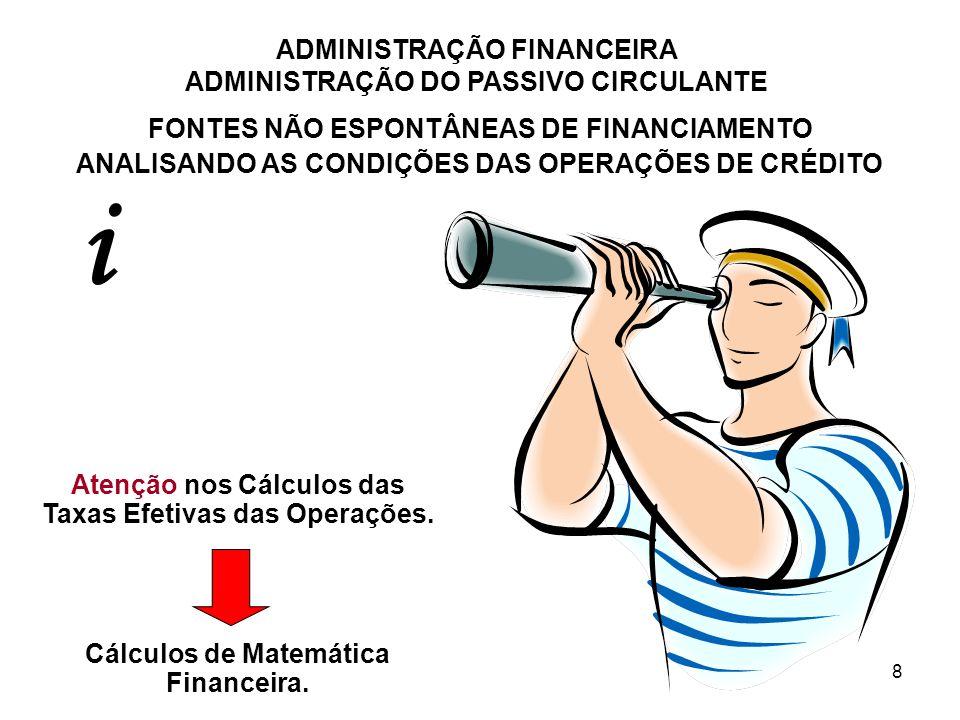 i FONTES NÃO ESPONTÂNEAS DE FINANCIAMENTO