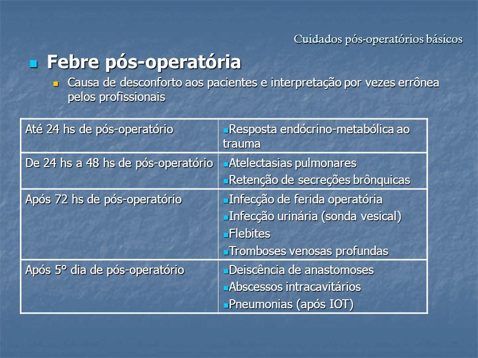 Cuidados pós-operatórios básicos