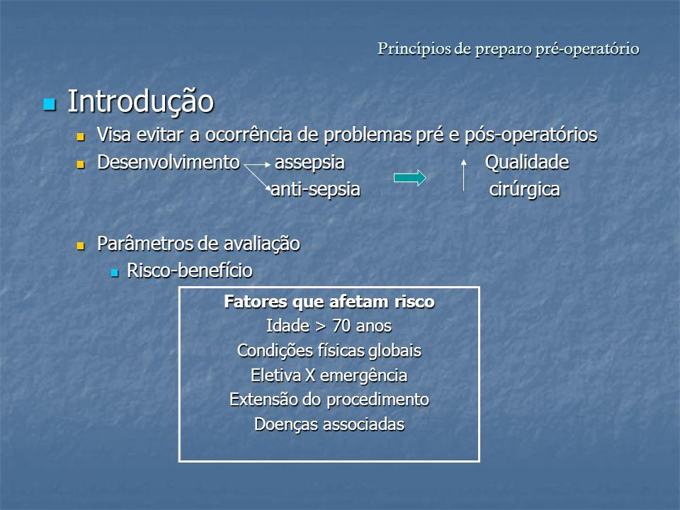 Princípios de preparo pré-operatório
